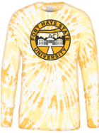 Image for the Spiral Ringspun Cotton, Custom Gold Spiral Wash, Geographical Insignia, Tie Dye, Long Sleeve product