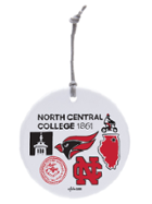 Image for the North Central College Ceramic Circle Ornament - Julia Gash product