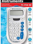 Image for the TI-1706 SuperView Basic Calculator(Silver) product
