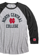 Image for the North Central College 3/4 Sleeve Raglan Tee product