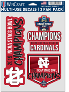 Image for the North Central College Championship Decals Choose 3 pack or 4x4 - CLEARANCE product