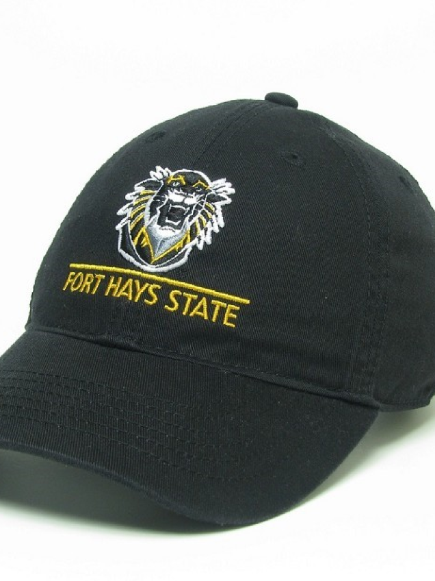 Image for the EZA Tiger Head w/ Fort Hays State University Hat; Black/Mustard; L2 product