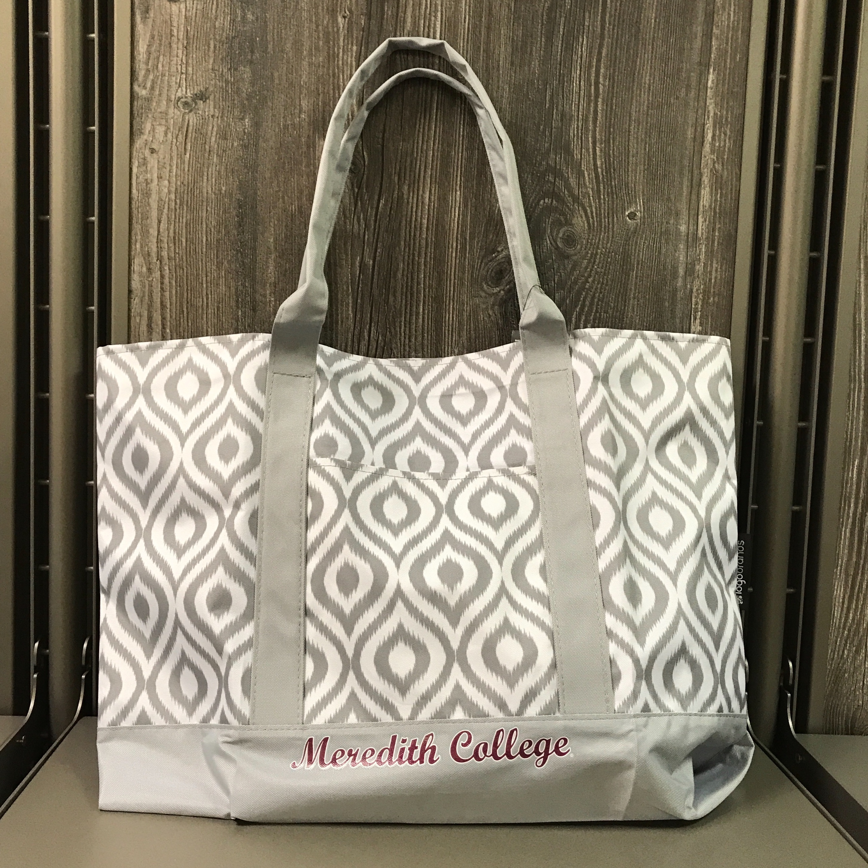 Image for the Ikat Tote Gray Logo Brands product
