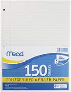 Image for the Filler Notebook Paper, 10.5X8, College Ruled, 150ct product