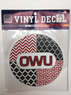 Image for the Chevron/Quatrefoil Circle Vynal Decal 6'' product