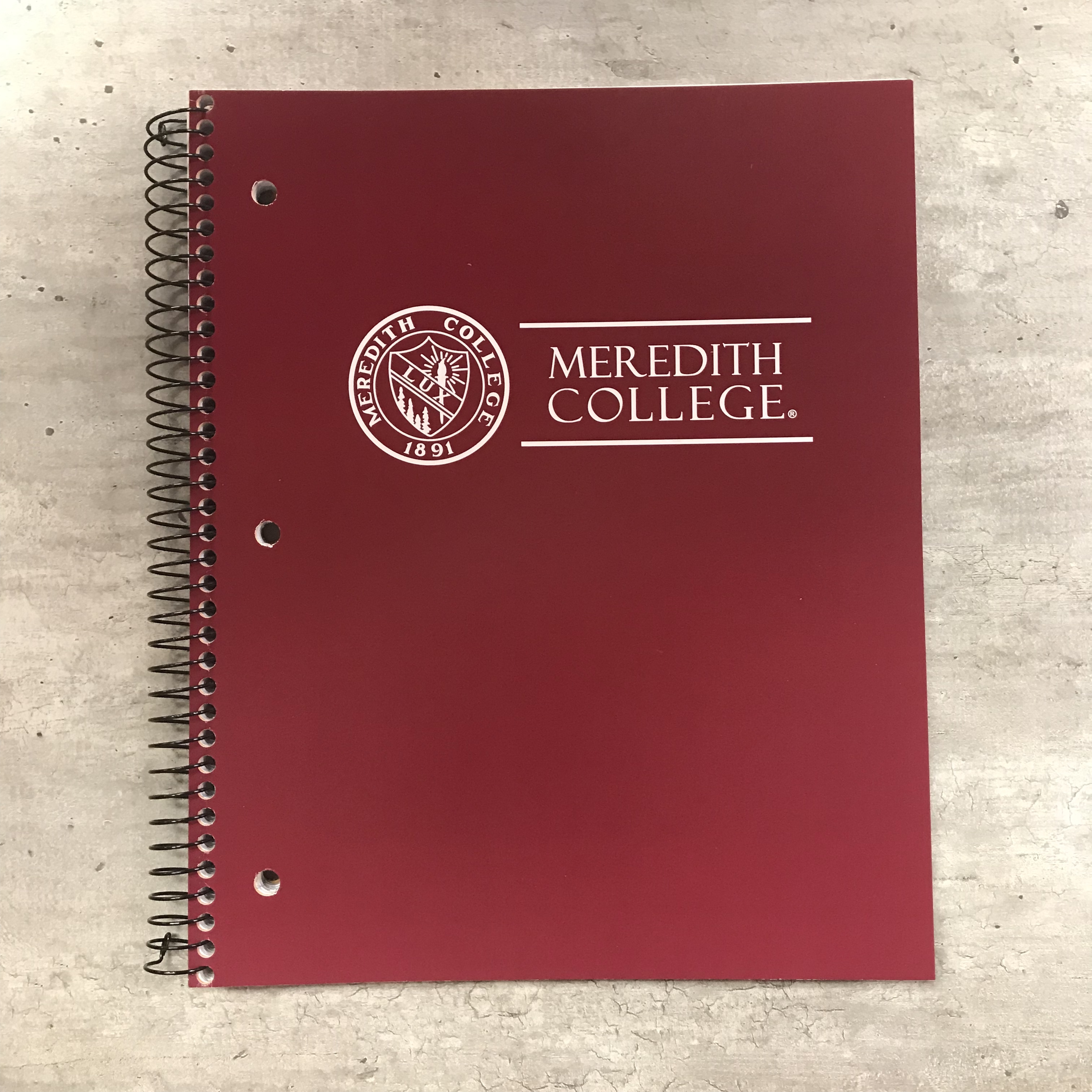 Image for the 3 Subject Spiral Notebook, Seal Meredith College product