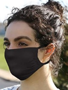 Image for the 5 Pk black 3 ply  washable cotton mask by Hanes product