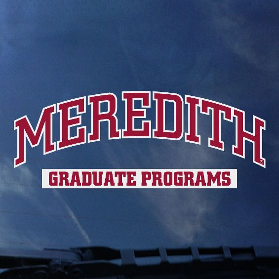 Image for the Decal, Meredith Graduate Programs product