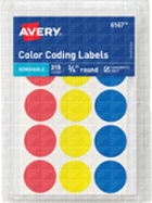 Image for the Avery Round Color-Coding Labels(Asst) product
