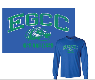 Image for the T-Shirt Long Sleeved Royal EGCC Gator Distressed product