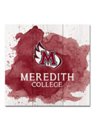 Image for the Wood Plank Square, Maroon Color Splash, Meredith College product