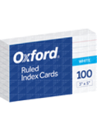 Image for the Oxford White Ruled 3x5 Index Cards product