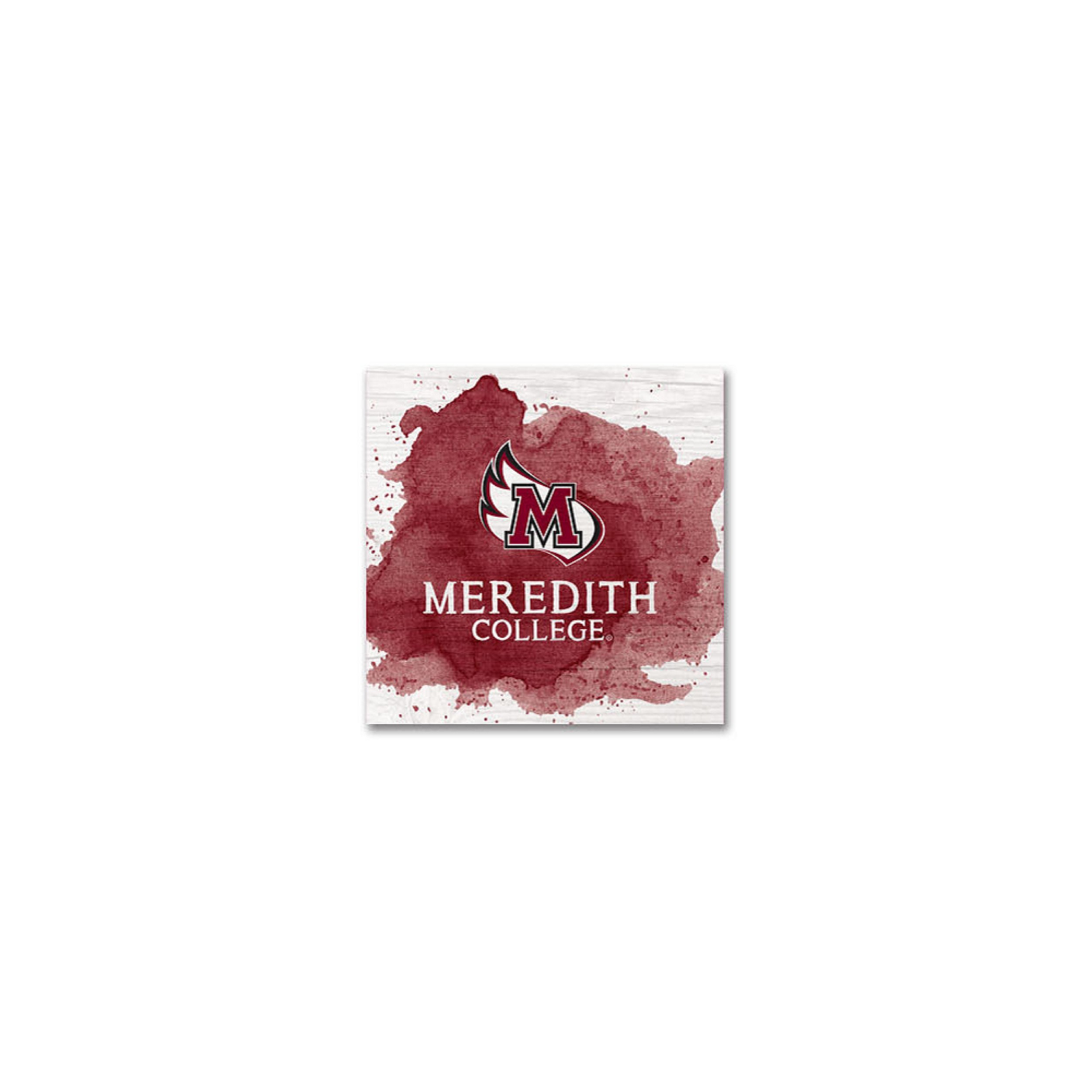 Image for the Small Square Block, Maroon Color Splash, Meredith College product