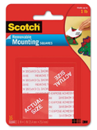 Image for the Scotch Removable Mounting Squares 16pk product