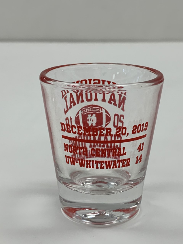 Alternative Image for the North Central College Championship 1oz Shot glass product