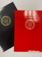 Image for the Glossy Twin Pocket Folder w/ Gold University Seal product