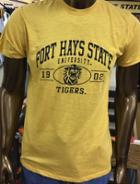 Image for the Fort Hays State University 1902 Tigers Shane Ringspun Slub Tee, Ginger, MV Sport product