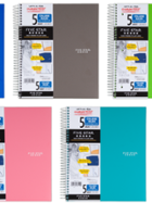 Image for the Five Star 5 Subject Notebook Multiple Colors product