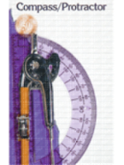 Image for the Charles Leonard Drawing Tool Set (compass & protractor) product