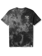 Image for the Grey Tie Dye Short Sleeve T-Shirt, Embroidered Meredith College on Left Chest product