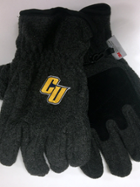 "Image for the Logofit 3M Thinsulate Peak Charcoal Gloves with ""CU"" product"