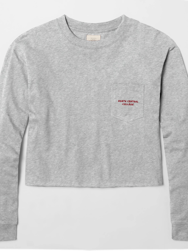 Image for the North Central College Long Sleeve Pocket Crop Top by L2 product