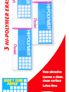 Image for the Pentel Hi-Polymer Block Eraser White Small 3PK product