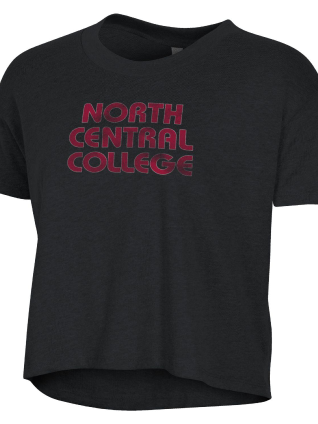 Alternative Image for the North Central College Headliner Crop Tee by Alternative product