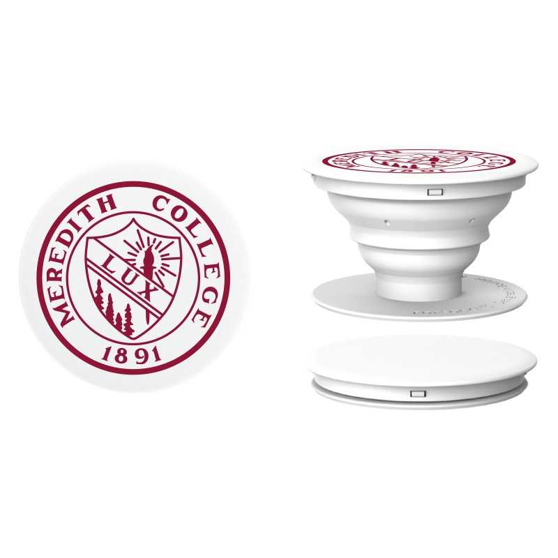 Image for the White Pop Socket with Maroon Meredith Seal product