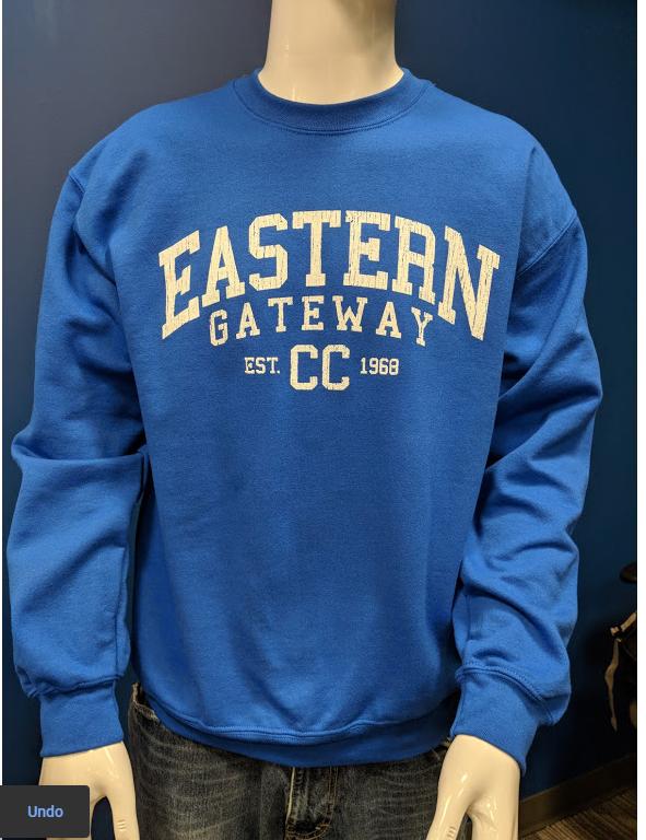 Alternative Image for the Crew Sweatshirt w/ Distressed EASTERN GATEWAY CC est date product