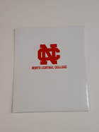 Image for the North Central College White laminated folder with school name by Four Point product