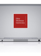 "Image for the Removable Decal - 4"" Ohio Wesleyan Stacked Logo product"