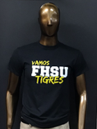Image for the Vamos FHSU Tigres, Spanish T-Shirt, Black, Hays Tees product
