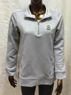 Image for the Tiger Over and Out Quilted/Cuffed Quarter zip, Gray, Game Day Couture product