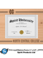 Image for the North Central College Alderwood Diploma Frame product