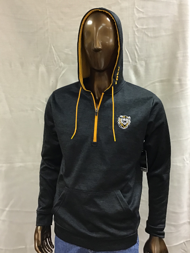 Alternative Image for the FHSU Wonder Marled Pullover Hoodie, Black with Gold Details, Colosseum product