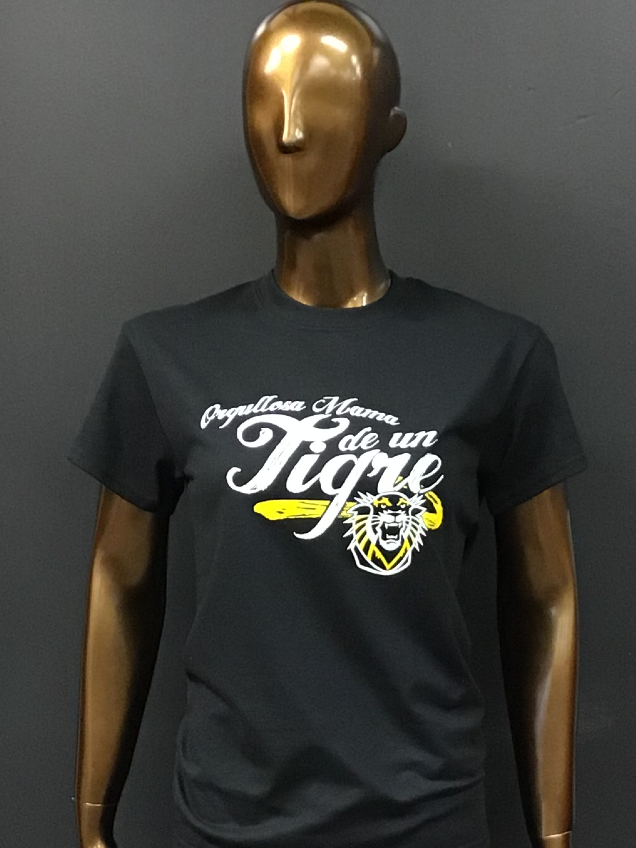 Alternative Image for the Proud Parent Spanish Tee, Black or Gold, Hays Tees product