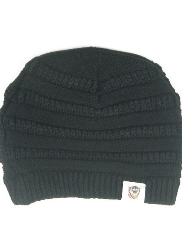 Image for the Purl Slouch Beanie; Black and Natural; L2 product