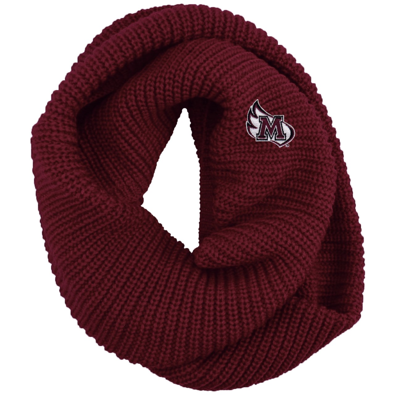 Image for the Chunky Knit Infinity Scarf, Burgundy product