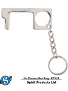 """Image for the North Central College """"No-Contact"""" Key tag in Nickel product"""