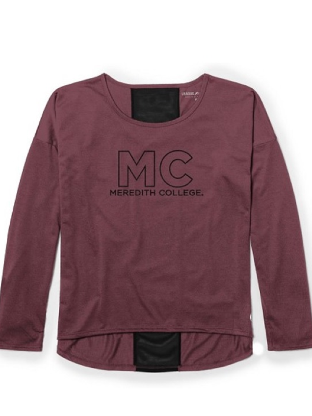 Image for the Mesh Long Sleeve Tee, Maroon product