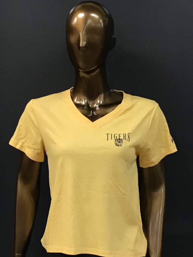Alternative Image for the Women's Intramural Boyfriend Tee; Heather Gold/Heather Linen; L2 product