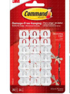 Image for the Command Adhesive Decorating Clip White Mini 20Pk product