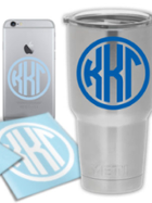 Image for the Kappa Kappa Gamma Small Circle Decal product