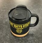 Image for the FHSU Ceramic Corky Mug With Lid, Black, Nordic product