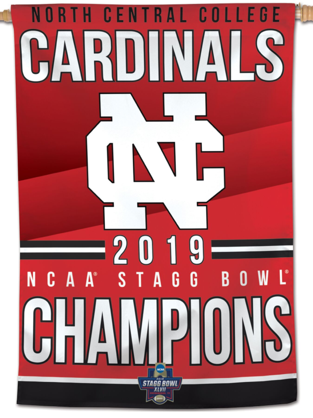 Image for the North Central College Championship 28x40 Vertical Flag product