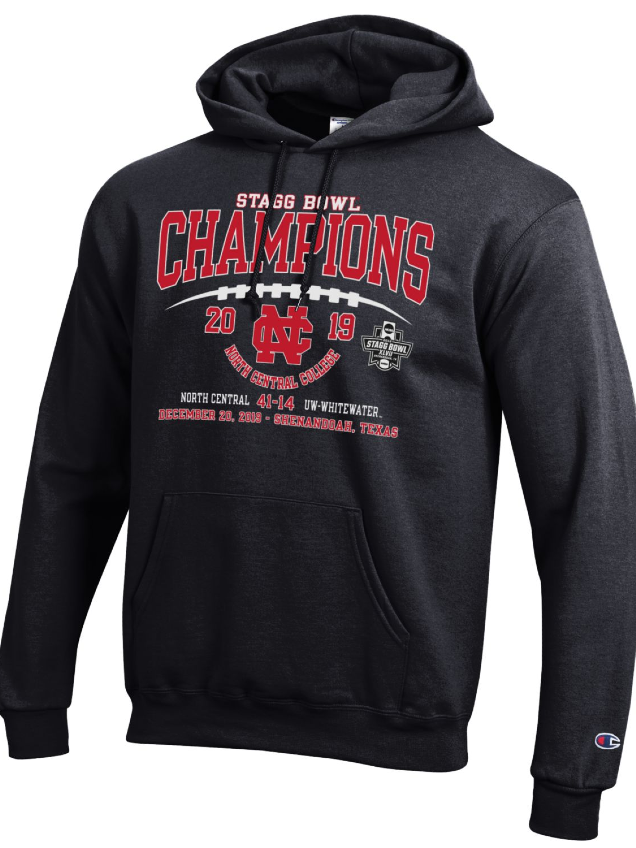 Alternative Image for the North Central College Official Stagg Bowl Championship Hoodie by Champion product