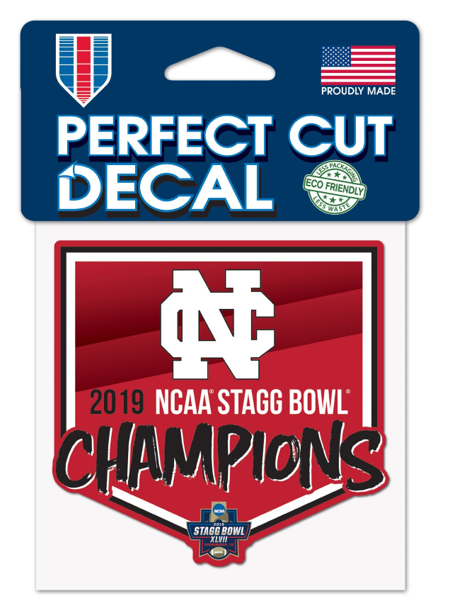 Alternative Image for the North Central College Championship Decals Choose 3 pack or 4x4 product