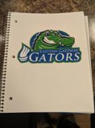 Image for the EGCC 3 Subject White Imprinted Notebook with Gator product