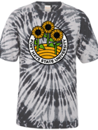 Image for the Spiral Ringspun Cotton, Black/White Spiral Wash Tie Dye, Short Sleeve product